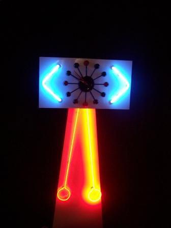 Neon Clock Lamp