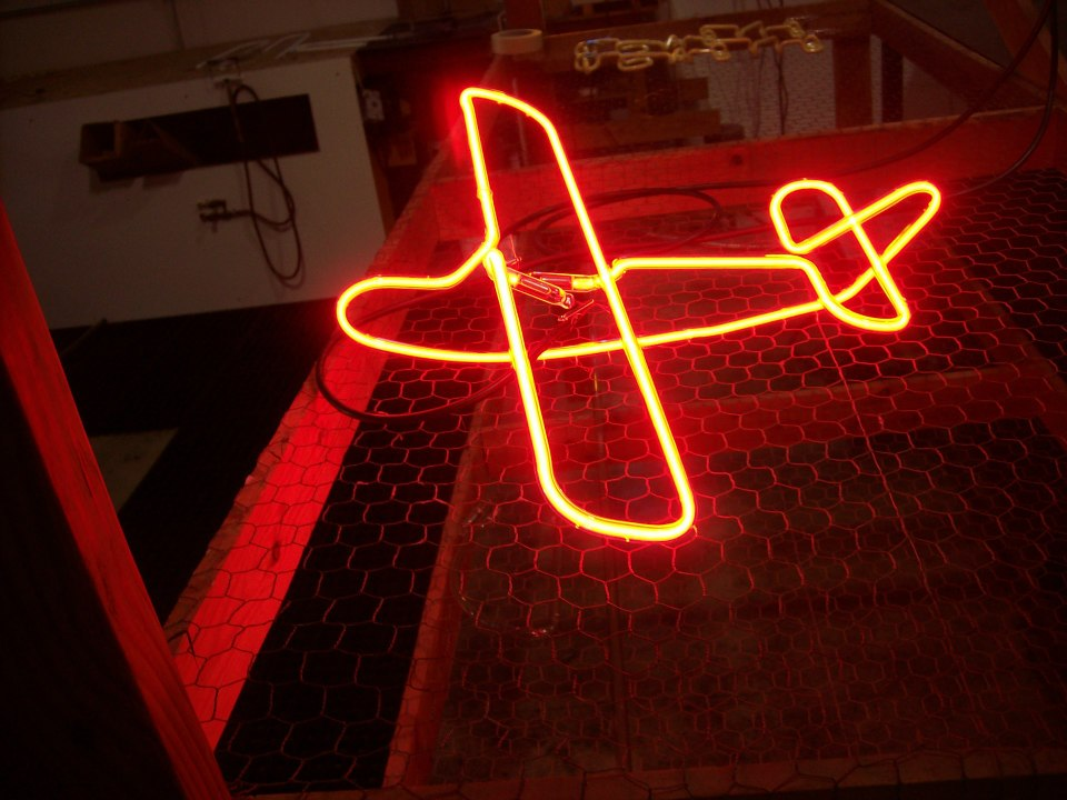 Neon Airplane
